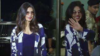 Priyanka Chopra Leaves India For Baywatch Promotions | Meets Media At Airport