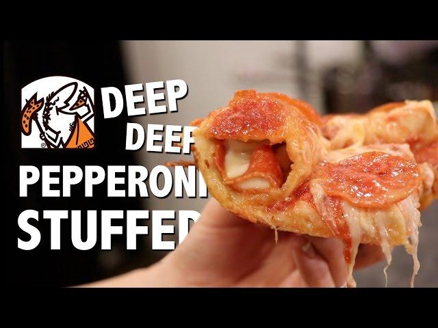DEEP DEEP PEPPERONI STUFFED CRUST PIZZA