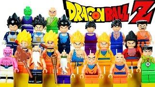 LEGO Dragon Ball Z KnockOff Minifigure Collection w/ Goku Krilin Vegeta & Piccolo