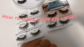 HOW TO: CLEAN FALSE EYE LASHES!