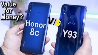 VIVO Y93 VS HONOR 8C | Detailed Comparison | SPEED & PUBG TEST | Which One Is Value For Money ?