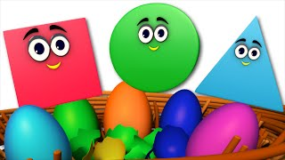 the shapes song | learn shapes | surprise eggs | nursery rhymes | kids songs