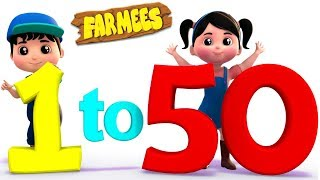 1 to 50 numbers song | Big Number Song For Children by Farmees