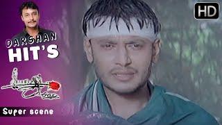 Kannada Scenes | Darshan gets hurt Kannada Scenes | Kariya Kannada Movie