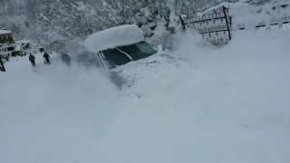 Mitsubishi Airtek Turbo in Deep Snow. 4x4 Offroad!!!
