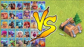 WHAT DO ALL TROOPS LOOK LIKE SHRUNK!?! | Clash of clans | Shrink trap troll