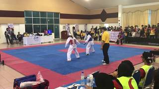 Taekwondo SUKIPT 2018- Goh Zhi Lin VS Fasha Qistina