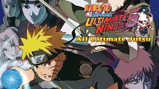 Naruto Shippuden Ultimate Ninja 5 All Ultimate Jutsu Specials