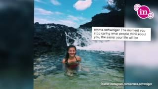 Urlaubsgrüße von Emma Schweiger: Da wird man doch glatt neidisch!