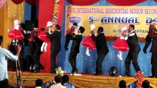 AVKIRS SNKL LKG STUDENTS WITH THEIR DAD MERA PAPA SONG PERFORMANCE IN 5TH ANNUAL DAY CELEBRATION