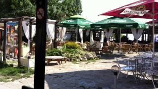 Bulgarien, Goldstrand, Strandzug, Promenade