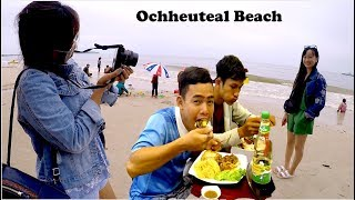 One Night Stay at a Hotel at Sihanoukville | Relax and Had Lunch at Ochheuteal Beach in Cambodia