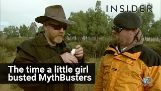 Little girl busted MythBusters
