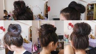 How to ทำผม มัดผมง่ายๆ (5 ways to Easy Bun Hair)