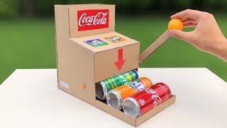 How to Make Coca Cola Fanta Sprite Random Vending Machine - Amazing idea
