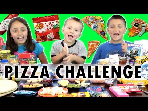 PIZZA CHALLENGE w Tabasco Hot Sauce Jelly Beans FUNnel Vision Family Fun
