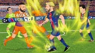 Parodia animada del Barcelona 4-0 Manchester City de Champions League 19/10/16