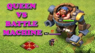 MAX BATTLE MACHINE VS MAX QUEEN I WHO WINS - 1 VS 1 - DUEL TO DEATH- CLASH OF CLANS
