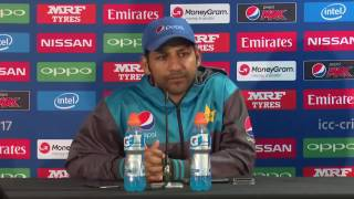 Sarfraz Ahmed pre South Africa vs pakistan ICC champions trophy match press conference 2017