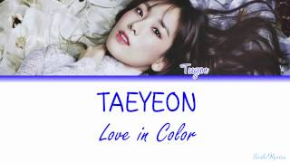 love in color taeyeon lyrics eng rom