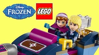 LEGO Disney Princess Frozen Anna and Kristoff's Sleigh Adventure Build and Review For Kids