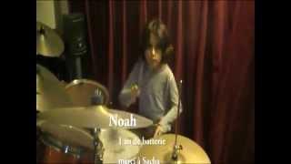 Noah enfant 7 ans prodige batterie