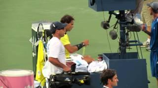 Rafa Nadal Shirt Change During Rafa-Fed XXXI Match At Cincinnati Masters