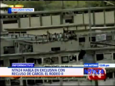 Reo de cárcel venezolana El Rodeo II habla en exclusiva con NTN24 sobre situación en el penal