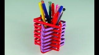 কাগজ দিয়ে খুব সুন্দর 'কলমদানি' বানানো শিখুন ! How to Make a Pen Stand With Paper