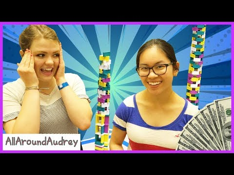 Download Last To Knock Over The Domino Tower Wins $100 (ft. Hevesh5)  / AllAroundAudrey
