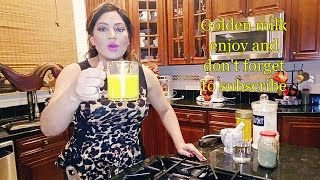 Turmeric Golden Milk Recipe - Haldi Doodh
