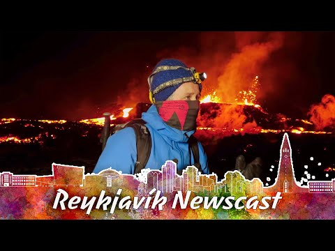 RVK Newscast 93 An Incredible Lava Flow Break Out Of The Mountain & Melt The Snowy Ground