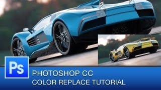 Photoshop Color Replacement Tool | Photoshop CC Tutorial