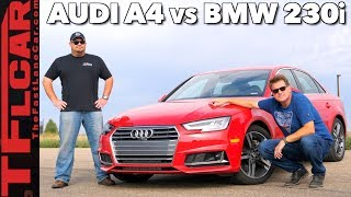 Audi A4 vs  BMW 230i 0-60 Mashup Review: 2.0L vs 2.0L in Different Cars