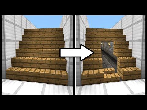 Hidden Staircase Doorway! - Minecraft Tutorial