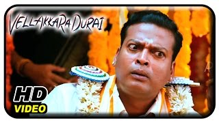 Vellaikaara Durai Movie Scenes   John Vijay threatens Sri DIvya   Vikram Prabhu   Soori