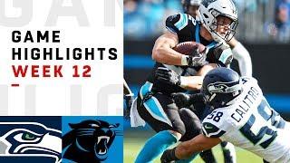 Seahawks vs. Panthers Week 12 Highlights | NFL 2018