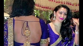 Sanjay Dutt Wife Manyata Dutt Hot Backless Saree At Ambani Ganpati Party 2017