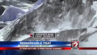 13-year-old Indian girl becomes youngest to climb Everest