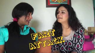 Funniest Video Ever - (Fart attack)   - Chutki  interviews Mona Singh ( Jassi )