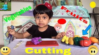 Toy Velcro Vegetables And Fruits Cutting