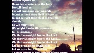 Hosea Shane and Shane Lyrics