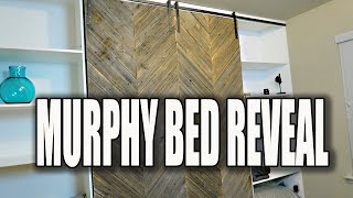 MODERN RUSTIC DIY MURPHY BED REVEAL! 😍😍😍
