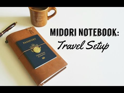 Camel Midori Notebook Travel Journal Setup