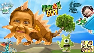 Mike & Duddy play DRAGON CITY!  Collection / GEMS / Battle!  (iOS FGTEEV Gameplay)