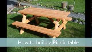 How to build a picnic table - A step by step guide