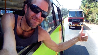 How is Bus Travel in INDIA? Awesome Bus Trip!