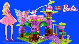 Mega Bloks Babie Fairy Treehouse Barbie Lego Brick Toys Unboxing Speed Build Review