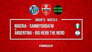 Nigeria vs Argentina   SammyDoDaFM vs BigHerbTheNerd   Football Manager 2018   #FMWorldCup
