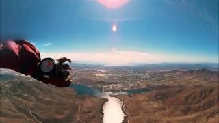 VR Skydiving 1st person POV 360° video free-fall